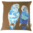 blue budgies cushion