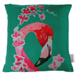 flamingo and flowers cushion