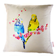 loving budgies cushion