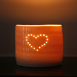 single heart mini tealight holder