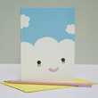 happy cloud greeting card by Noodoll