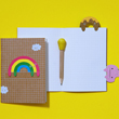 rainbow - bookmark cover notebook by Noodoll