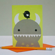 Ricemon greeting card by Noodoll