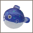 blue fish - japanese paper balloon