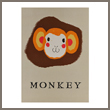 monkey balloon greeting card
