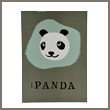panda balloon greeting card