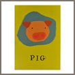 pig balloon greeting card