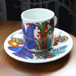 two villeroy and boch acapulco cup and saucers