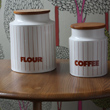 brown coffee and flour hornsea storage jars