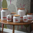 red hornsea storage jars
