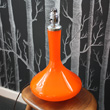 1970's glass table lamp