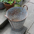 vintage galvanised grape bucket