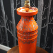 retro orange ceramic table lamp